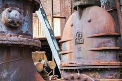 Abstrakcjonistyczny przemysłowy tło z ośniedziałą stalą Obraz Royalty Free