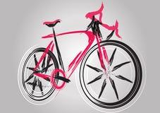 Abstrakcjonistyczny przyszłościowy rower Fotografia Stock