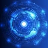 Abstrakcjonistyczny przyszłościowy technologii pojęcia tło, wektorowa ilustracja Zdjęcie Royalty Free