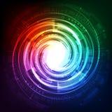 Abstrakcjonistyczny przyszłościowy technologii tła pojęcie, wektorowa ilustracja Zdjęcie Royalty Free