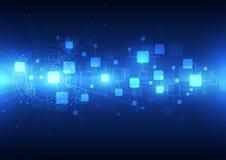 Abstrakcjonistyczny przyszłościowy technologii telecoms tło, wektorowa ilustracja Fotografia Royalty Free