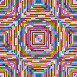 Abstrakcjonistyczny psychodeliczny bezszwowy wzór Zdjęcia Stock