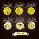 Abstrakcjonistyczny pszczoła projekt ilustracja wektor