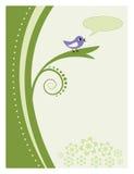 abstrakcjonistyczny ptasi śpiewacki drzewo ilustracji