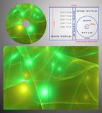 abstrakcjonistyczny pudełkowaty cov projekta dvd etykietki szablon ilustracja wektor
