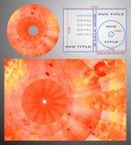 abstrakcjonistyczny pudełkowaty cov projekta dvd etykietki szablon ilustracji