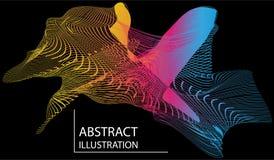 Abstrakcjonistyczny punkt kolorowa ilustracja ilustracja wektor