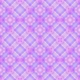 Abstrakcjonistyczny purpur i menchii płytki wzór, Fiołkowy ozdobny kafelkowy tekstury tło, Bezszwowa ilustracja ilustracji
