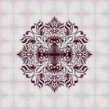 Abstrakcjonistyczny purpura ornament Zdjęcia Stock