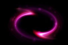 Abstrakcjonistyczny purpura zawijasa światło Zdjęcie Stock