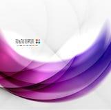 Abstrakcjonistyczny purpura zawijasa projekt Obrazy Stock