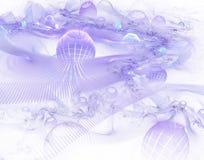 abstrakcjonistyczny purpurowy świat ilustracji