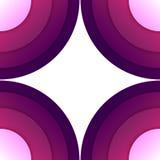 Abstrakcjonistyczny purpurowy papierowy round kształtów tło Zdjęcie Royalty Free