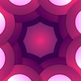Abstrakcjonistyczny purpurowy papierowy round kształtów tło Fotografia Royalty Free