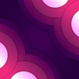 Abstrakcjonistyczny purpurowy round kształtów tło Zdjęcie Stock