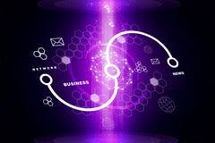 Abstrakcjonistyczny purpurowy tło z błyskami Zdjęcie Royalty Free