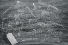 Abstrakcjonistyczny pusty chalkboard dla czarnej tło tekstury pojęcia reklamy tapety dla tekst edukaci grafiki Obrazy Royalty Free