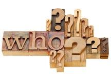abstrakcjonistyczny pytanie który Obraz Stock