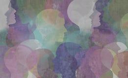 Abstrakcjonistyczny różnorodności społeczeństwo ilustracja wektor
