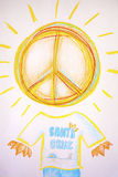 Abstrakcjonistyczny ręka rysunek Santa cruz Fotografia Royalty Free