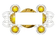 abstrakcjonistyczny ramowy kolor żółty Obraz Royalty Free