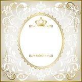 abstrakcjonistyczny ramowy romantyczny biel Zdjęcia Royalty Free