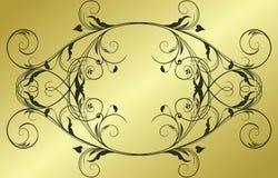 abstrakcjonistyczny ramowy złoto Zdjęcie Royalty Free