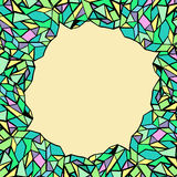 Abstrakcjonistyczny Retro Geometryczny bezszwowy wzór z trójbokami fotografia stock