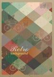 Abstrakcjonistyczny retro geometryczny tło z bicyklami Fotografia Stock