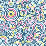 Abstrakcjonistyczny retro wzór z okręgami Fotografia Stock