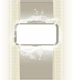 Abstrakcjonistyczny rocznik ramy tło z kleksami Zdjęcie Stock