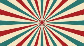 Abstrakcjonistyczny rocznika światło słoneczne czerwony żółty błękitny i zielony kwiatu tło z gwiazdą w centrum Karnawa royalty ilustracja