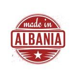 Abstrakcjonistyczny rocznika znaczek, foka z tekstem Robić w Albania lub Zdjęcia Royalty Free