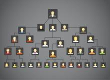 abstrakcjonistyczny rodzinny drzewo Obrazy Stock
