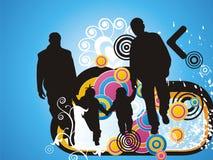 abstrakcjonistyczny rodzinny kwiecisty ilustracyjny pluśnięcie Zdjęcia Stock