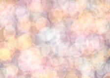Abstrakcjonistyczny romantyczny kolorowy bokeh dla tła Fotografia Stock
