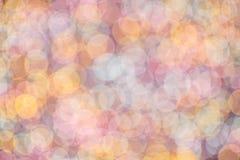 Abstrakcjonistyczny romantyczny kolorowy bokeh okrąża tło Zdjęcie Stock