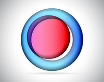 Abstrakcjonistyczny round kolorowy szkło Zdjęcie Stock