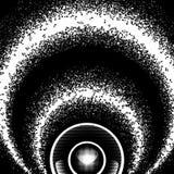 Abstrakcjonistyczny round monochromatyczny tło z muzyka mówcą i notatkami Obrazy Royalty Free