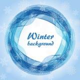 Abstrakcjonistyczny round snowball przeciw płatek śniegu ilustracja wektor