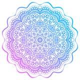 Abstrakcjonistyczny round wzór, orientalny mandala Zdjęcia Stock