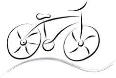 Abstrakcjonistyczny rower Zdjęcia Stock