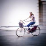 Abstrakcjonistyczny rowerzysta Zdjęcia Royalty Free