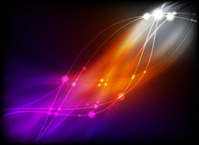 abstrakcjonistyczny rozjarzony światło Fotografia Royalty Free