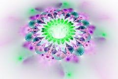 Abstrakcjonistyczny rozjarzony kolorowy kwiat na białym tle Zdjęcie Royalty Free