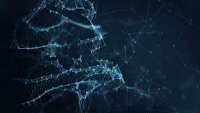 Abstrakcjonistyczny ruchu tło - cyfrowe binarne plexus sieci przesyłania danych ilustracja wektor