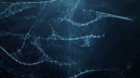 Abstrakcjonistyczny ruchu tło - cyfrowe binarne plexus sieci przesyłania danych ilustracji