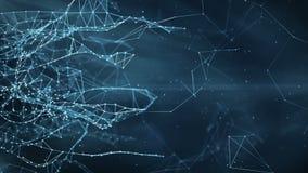 Abstrakcjonistyczny ruchu tło - cyfrowe plexus sieci przesyłania danych royalty ilustracja