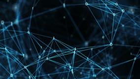 Abstrakcjonistyczny ruchu tło - Latający Przez Cyfrowych Binarnych sieci przesyłania danych ilustracja wektor
