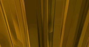 Abstrakcjonistyczny ruchu złoto macha pionowo materialnego bieżącego ruchu, złoty kruszcowy tło, zdjęcie wideo